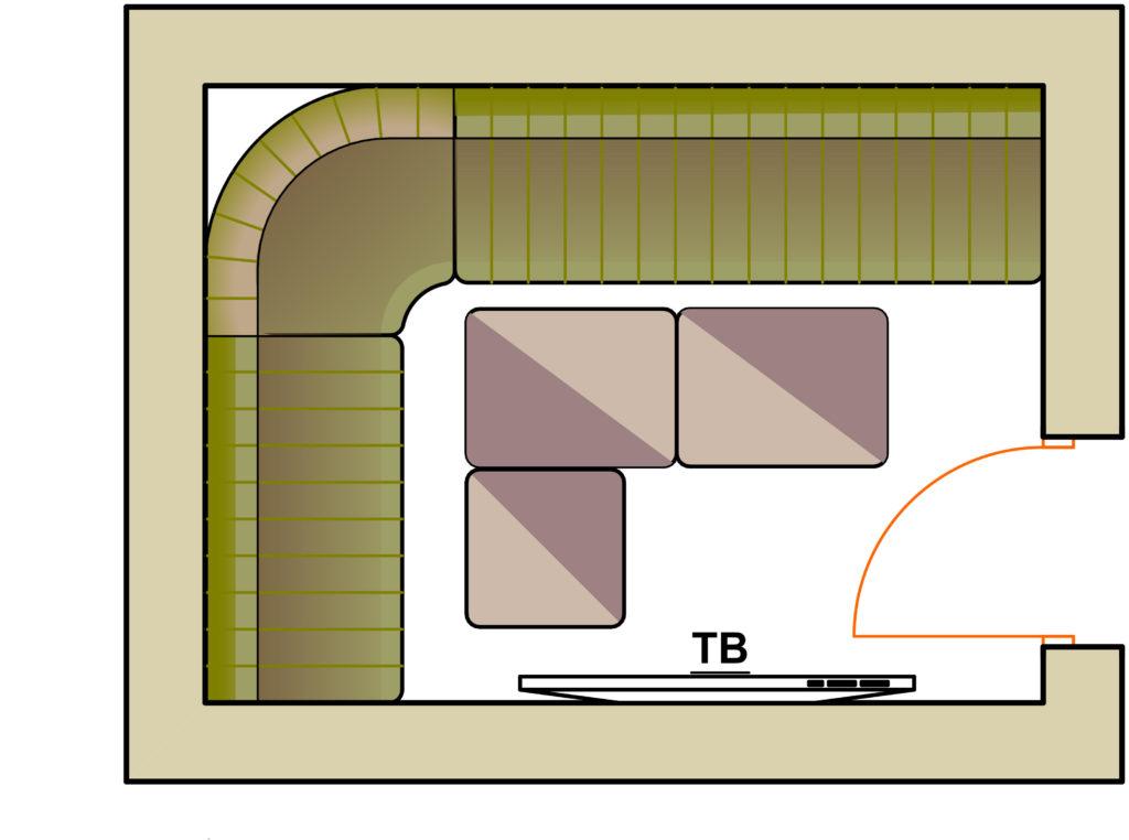 план комнаты Саксофон