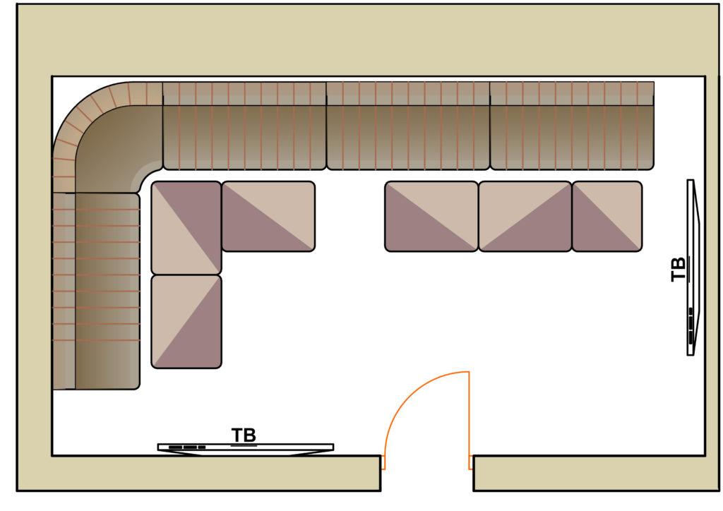 план комнаты Барабан